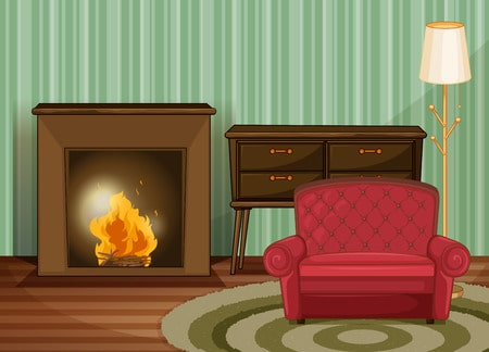 illustration of clean living room