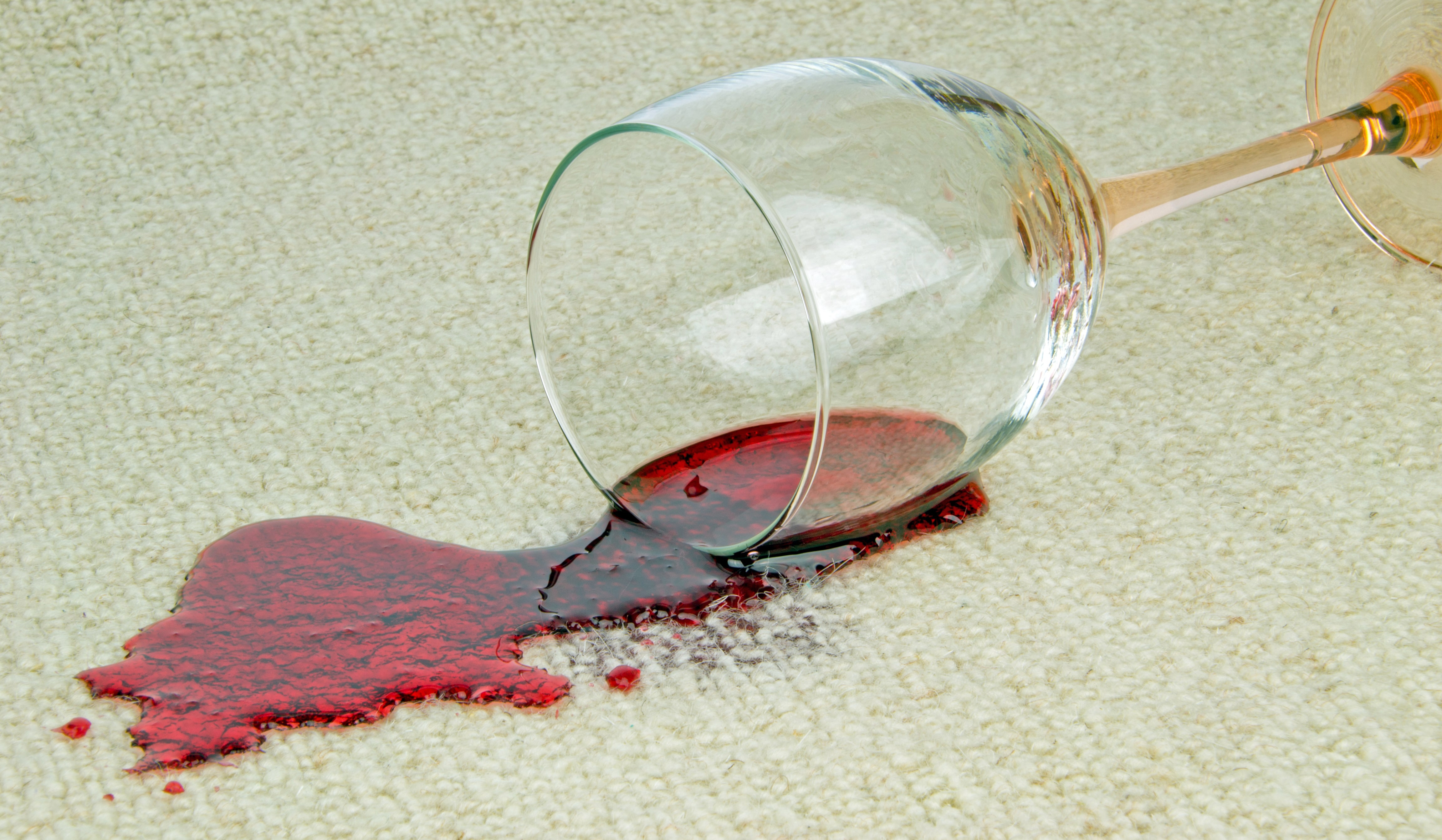 wine spilled on carpet